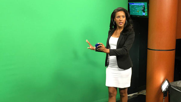 Jessica Swindle, former Miss Peach, is a meteorologist at KLTV in Texas. (Contributed)